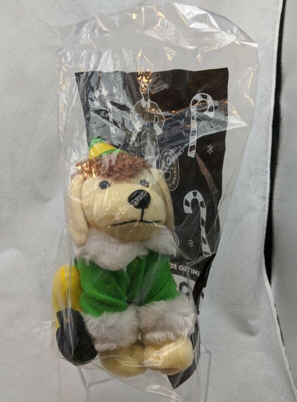 """Raising Canes Chicken Fingers 8"""" 2015 Plush Puppy Dog Buddy the Elf NEW & SEALED"""