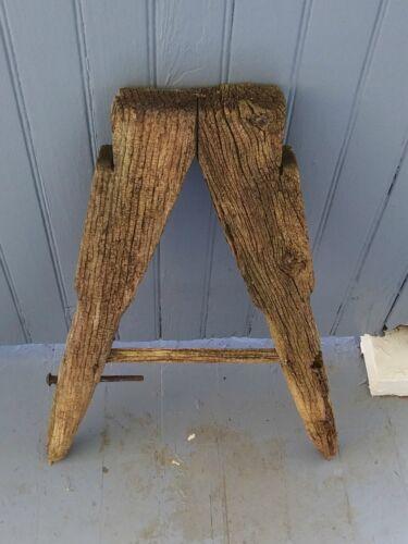 Antique Primitive Wooden Architectural Piece Garden Barn