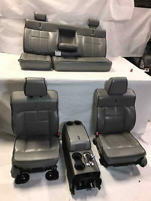 2008 Lincoln Mark LT Set Left Right Front & Rear Seats + Center Console Complete