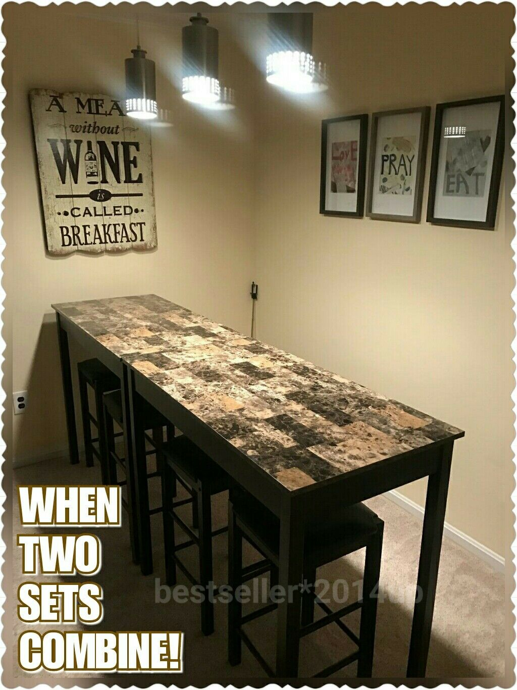 Remarkable Black Marble Counter Height Dining Table Set Of 3 Piece Bar Pub Kitchen Stools Ocoug Best Dining Table And Chair Ideas Images Ocougorg