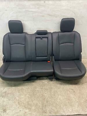 2012 - 2018 DODGE RAM 3500 REAR 2ND ROW SEAT SET BLACK LEATHER LARAMIE CREW CAB Cab 2nd Seat
