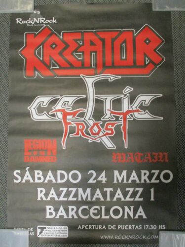 CELTIC FROST KREATOR LEGION OF THE DAMNED LARGE CONCERT POSTER