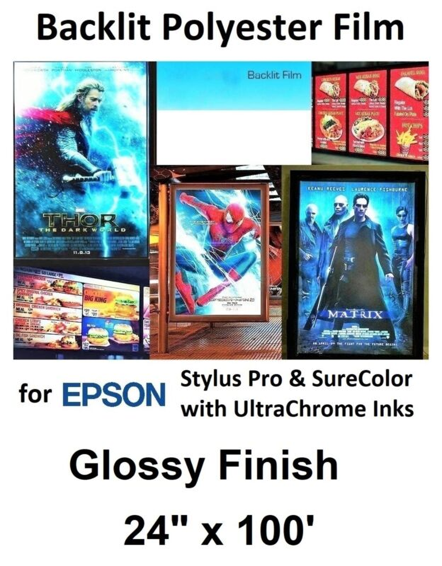 "Gloss Backlit for EPSON Stylus Pro & SureColor UltraChrome Printers 24"" x 100"