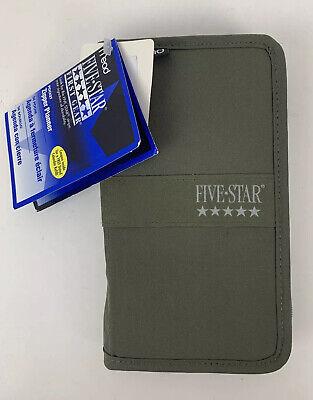 Mead Five Star Pocket Zipper Planner First Gear Green New