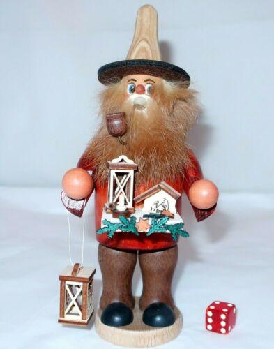 CHRISTMAS PEDDLER INCENSE SMOKER Handcrafted Wood Erzgebirge Germany Nativity #1