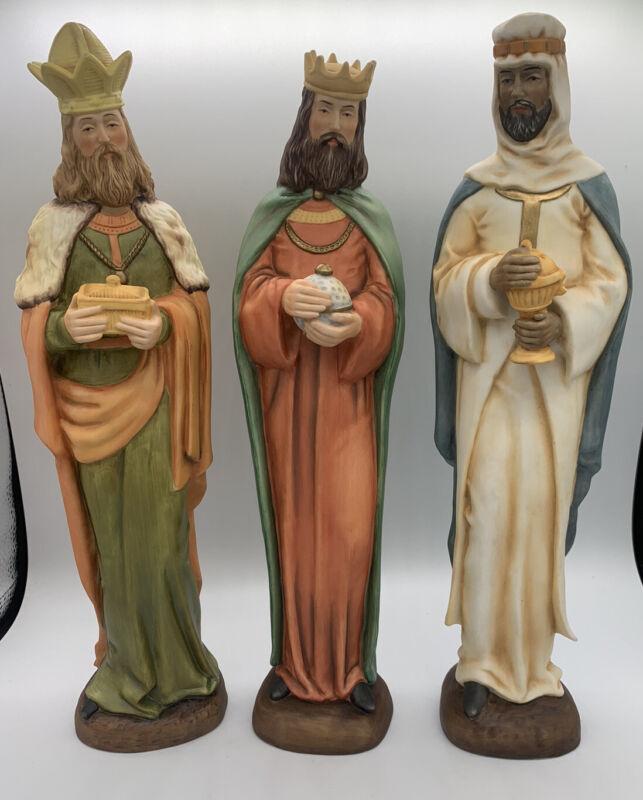 "Vintage 3 Wise Men Figurine Set 13"" Height."