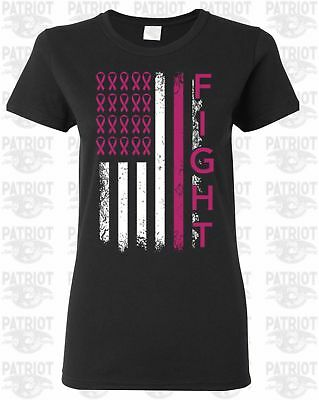 Breast Cancer Awareness Shirt Fight Faith Hope Love Support Pink Womens T Shirt