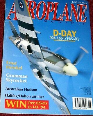 Aeroplane Monthly Magazine 1994 June Grumman Skyrocket,Halifax,Percival Gull