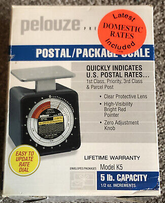 Brand New Dymo By Pelouze K5 5-lb Capacity Radial Dial Mechanical Package Scale