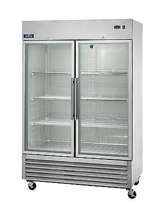 Arctic Air Agr49 49cuft Double Glass Door Reach-in Refrigerator