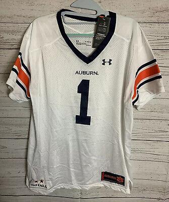 Under Armour #1 Auburn Tigers White Premier Football Jersey Womens Auburn Tigers Womens Football Jersey