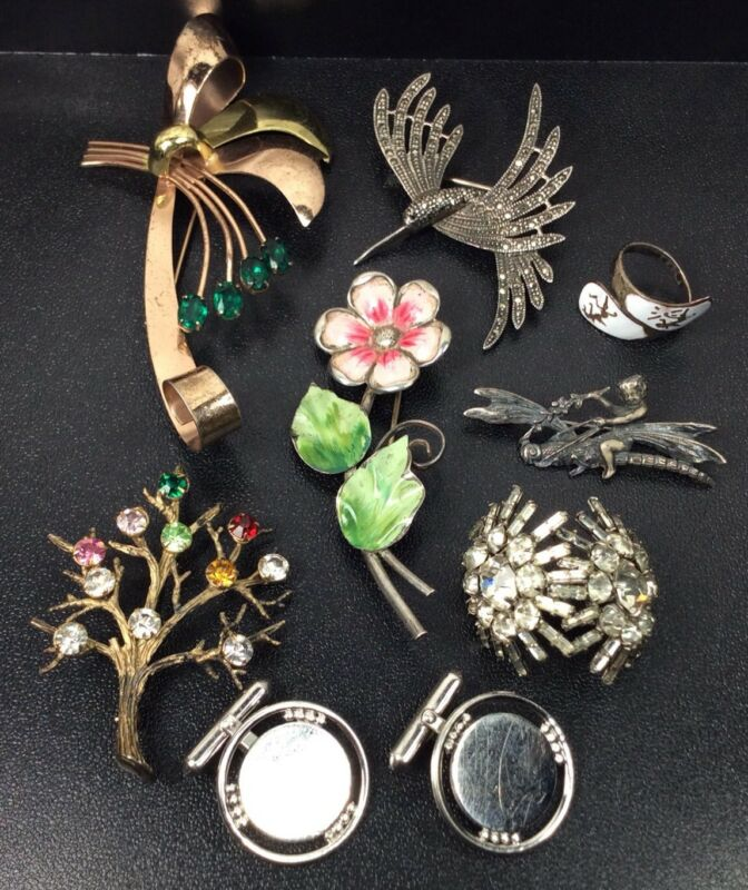 Sterling Silver Lot 8 Piece 1940's-50's Too Modern Jewerly (((Not Scrap))) (S48)