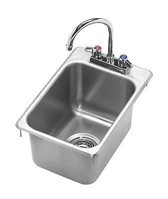 Krowne Metal Hs-1419 12 X 18 Drop-in Hand Sink W 6 Gooseneck Spout Faucet