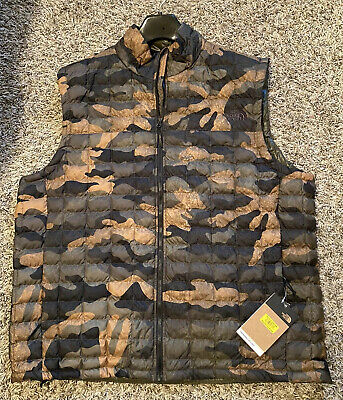 NEW The North Face Mens Camo Camouflage Thermoball Eco Vest Size XXL 2XL $149