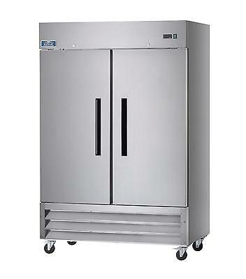 Arctic Air Af49 49 Cu.ft Reach-in Freezer 2 Solid Doors Stainless Exterior