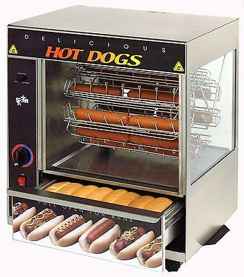 Star 175cba Hot Dog Bun Broiler W Cradle Wheel 36 Dogs32 Buns Cap.