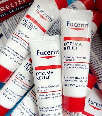 20x Eucerin Eczema Relief Skin Cream .35oz Size Exp 1/21* + Freebies & FREE SHIP