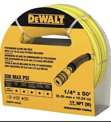 Dewalt Air Compressor Hose 50 Ft. X 14 In. 300 Psi Reinforced Lightweight