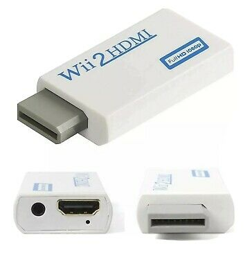 Adaptador Wii a HDMI Conversor RCA a HDMI 1080p HDTV LED Smartv