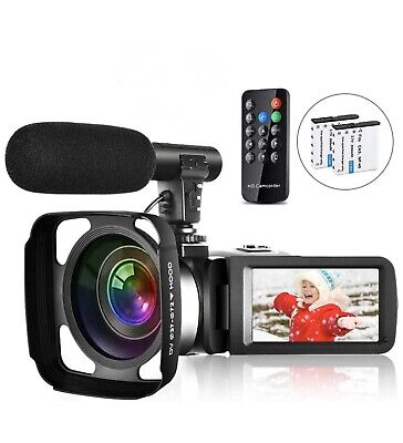 Video Camera Camcorder Vlogging Camera Full HD IR Night Vision Touch Screen