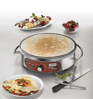 Waring Countertop 16in Electric Crepe Maker w/ Spatula - 208/240V - WSC165B