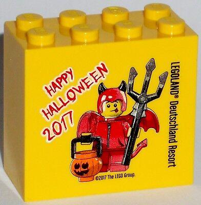 Neue Halloween-2017 (LEGO LEGOLAND Sammelstein Sonderstein Promostein Happy Halloween 2017 - NEU)