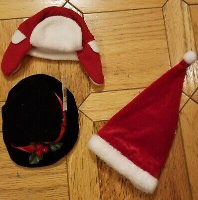 Yankee Candle Christmas Santa Hat, Trapper Hat & Top Hat fits Large Jar Set of 3