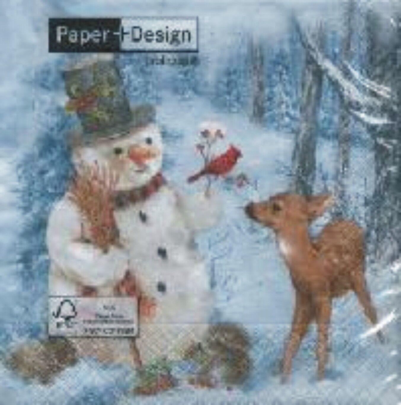20 wundersch ne marken weihnachts servietten schneem nner. Black Bedroom Furniture Sets. Home Design Ideas
