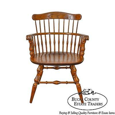 Nichols & Stone Vintage Oak Captains Arm Chair for sale  Hatfield
