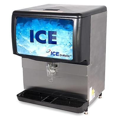 Ice-o-matic Iod150 150 Lb. Countertop Cube Pearl Ice Storage Bin Dispenser
