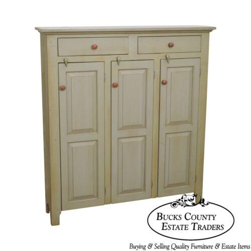Bucks County Custom Country Pine Painted 2 Drawer 3 Door Cupboard