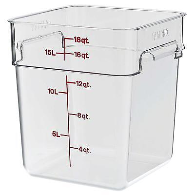 Cambro 18sfscw135 18 Qt Food Storage Container Square Clear