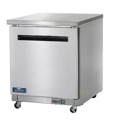Arctic Air Auc27f 28 Undercounter Freezer 1 Door Stainless Exterior