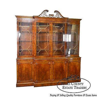 Trosby George III Style English Yew Wood 4 Door Breakfront