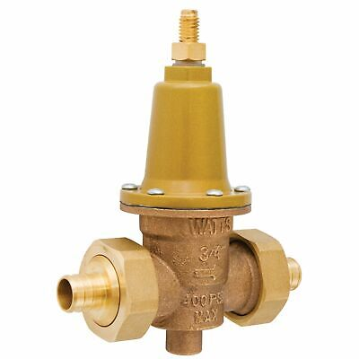 Watts Lfx65bdu-pex 34 Lead Free Brass Water Pressure Reducing Valve