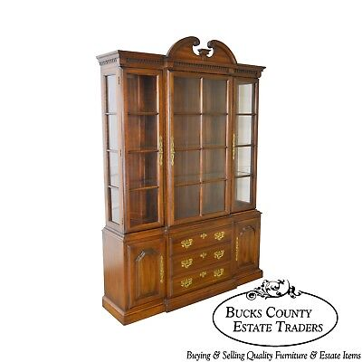 Harden Solid Cherry Traditional China Cabinet