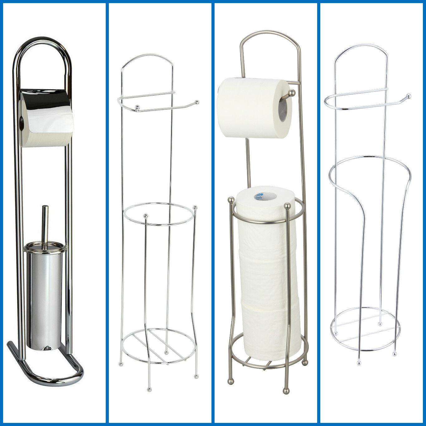 Free standing toilet bathroom chrome tissue paper roll - Bathroom toilet paper holder free standing ...