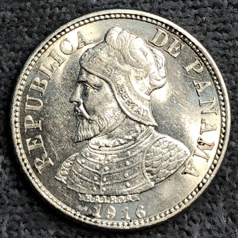 Panama 5 Centesimos, 1916. KM# 2. Rare Date!