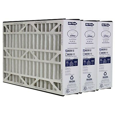 Trion Air Bear 255649-105 Pleated MERV 8 Furnace Filter Cleaner 16x25x5 - 3 Pack