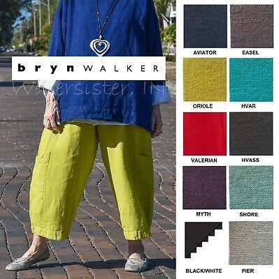 BRYN WALKER Heavy Linen  CASBAH PANT  Crop Pocket Pants  1X  2X  3X SPRING 2018 Ladies Cropped Pants