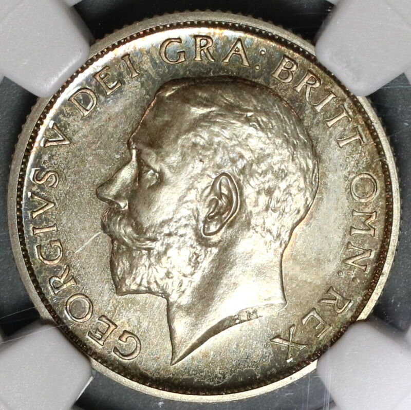 1911 NGC PF 65 Proof Shilling George V Great Britain Silver Coin (19091801C)
