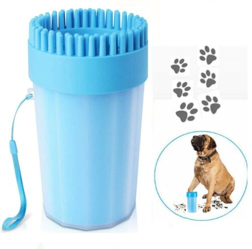 Updated Dog Paw Washer Cup Grooming Brush 2 in 1 Portable Pet Feet Cleaner Cat