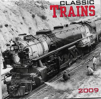 Classic Trains 2009 Mini Wall Calendar, New Condition, GREAT Train Pictures!
