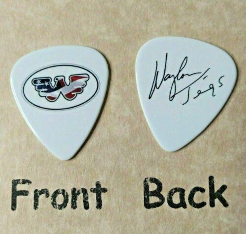 WAYLON JENNINGS band logo signature guitar pick (Q-R9)