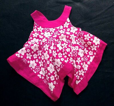 CLEARANCE Toddler girl 12-18 Months Crimson with white flowers summer tunic. ](Clearance Flower Girl Dresses)