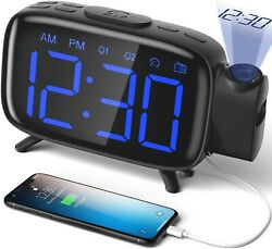 Digital Alarm Clock - Radio and Alarm with USB Port for Phone Charging - NEW