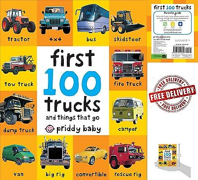 Toddler Learning Book First 100 Trucks Board Toy Early Education