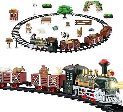 Christmas Train Miniature Battery Powered Train Set Toy Remote Control Gift