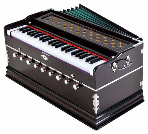Harmonium with Cover 9 Stopper, Churidar Bellow, 42 Key, 2 Reed (Bass-Male)FShip
