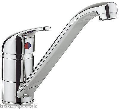 Kitchen Sink Mixer Tap Monobloc Modern Chrome Brass Single Faucet Lever 34